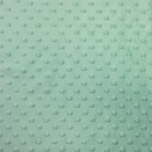 Icy Mint Minky Dimple Dot Fabric