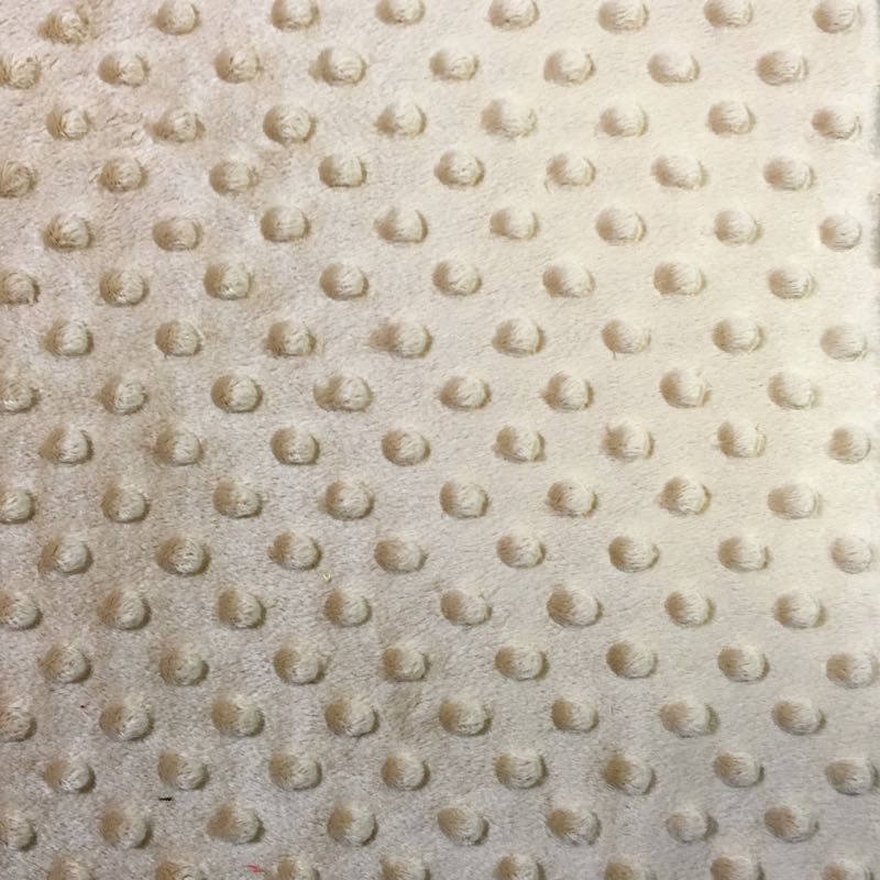 Khaki Minky Dimple Dot Fabric
