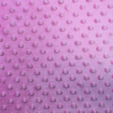 Pink Minky Dimple Dot Fabric