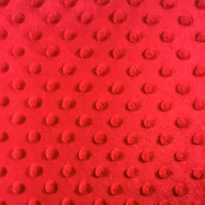 Tomato Minky Dimple Dot Fabric