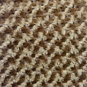 Almond Minky Rosebud Fabric