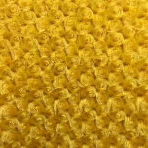 Canary Yellow Minky Rosebud Fabric