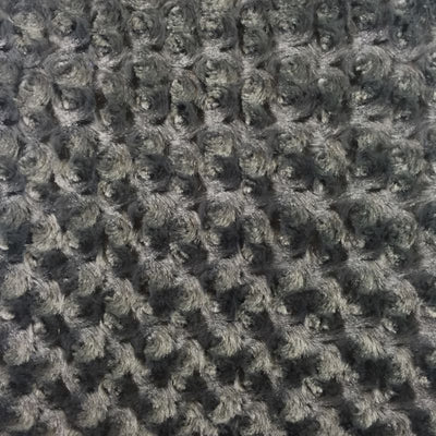 Gray Minky Rosebud Fabric