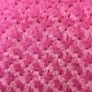 Hot Pink Minky Rosebud Fabric