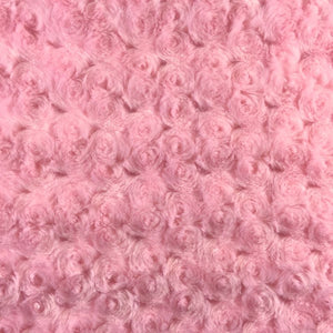 Peach Minky Rosebud Fabric