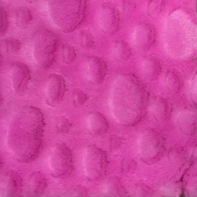 Hot Pink Minky Stone Fabric