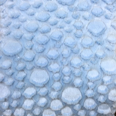 Sky Blue Minky Stone Fabric