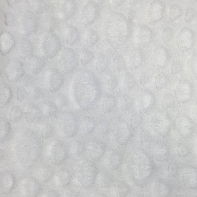 White Minky Stone Fabric