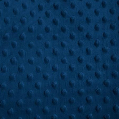 Navy Blue Gray Minky Dimple Dot Fabric