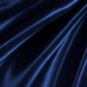Navy Poly Satin Fabric