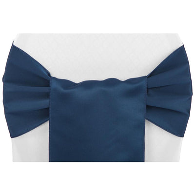 (12 Pack ) Navy Satin Sash