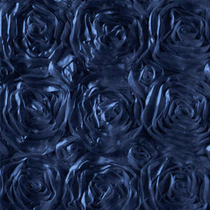 Rosette Satin Navy Fabric
