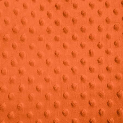 Neon Orange Minky Dimple Dot Fabric