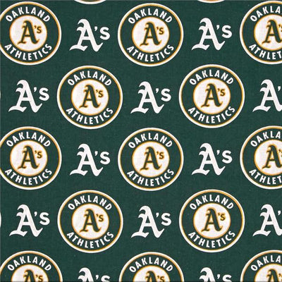 Oakland A's  MLB Solid Polar Fleece Fabric