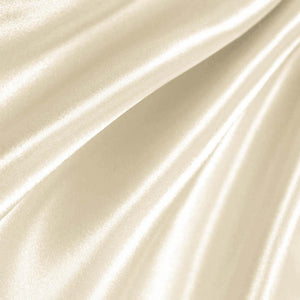 Ivory Poly Satin Fabric / 50 Yards Roll