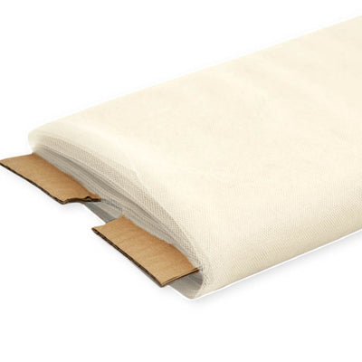 Ivory Nylon Tulle Fabric, 54