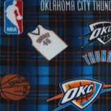 Oklahoma City Thunder Plaid NBA Fleece Fabric