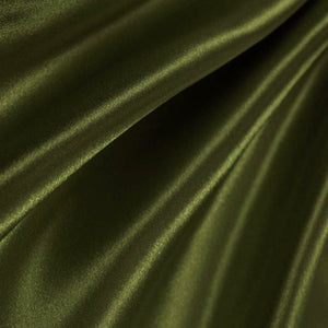 Olive Poly Satin Fabric