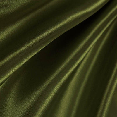 Olive Poly Satin Fabric / 50 Yards Roll