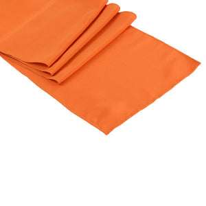 Orange Polyester Table Runner