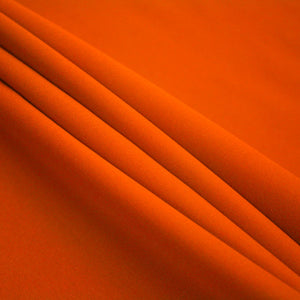Orange Polyester Poplin Fabric