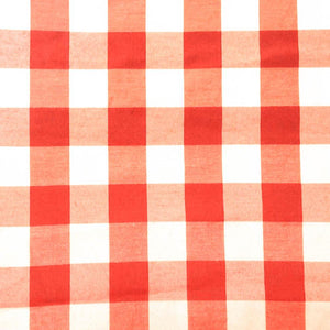 "Orange Checkered Gingham 1"" Poly Cotton Fabric"