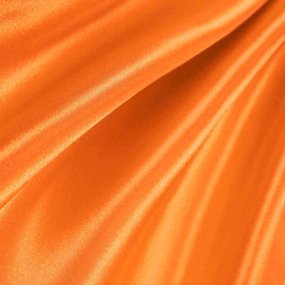 Orange Poly Satin Fabric
