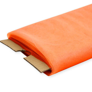 "Orange Nylon Tulle Fabric, 54"" Inches Wide - 40 Yards By Roll"