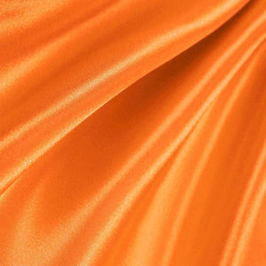 Orange Poly Satin Fabric / 50 Yards Roll