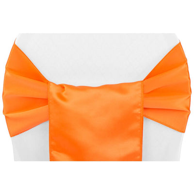 (12 Pack ) Orange Satin Sash
