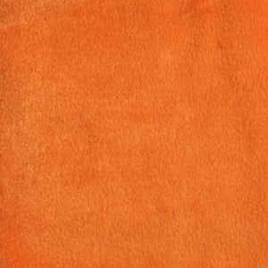 Orange Velboa Fur Solid Short Pile