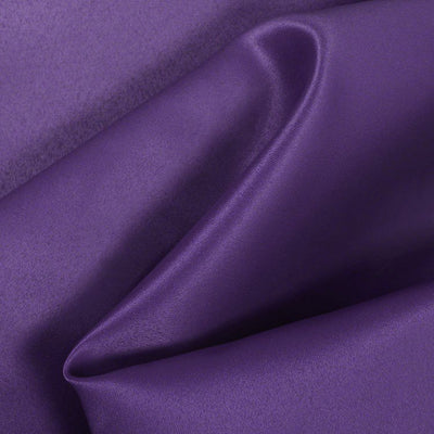 Purple Dull Matte Bridal Satin Fabric