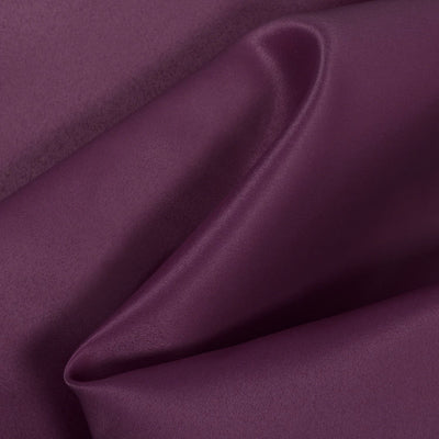 Eggplant Dull Matte Bridal Satin Fabric