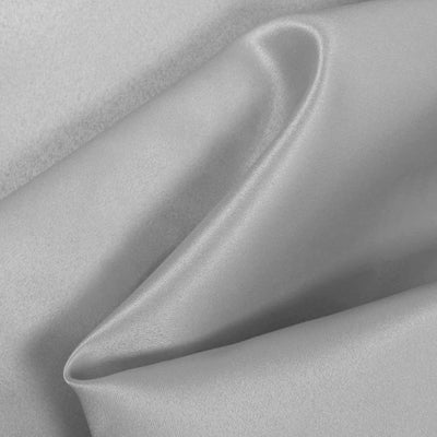 Silver Dull Matte Bridal Satin Fabric