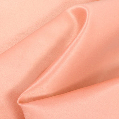 Peach Dull Matte Bridal Satin Fabric