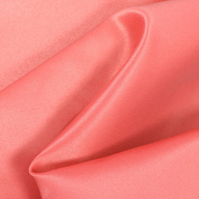 Light Coral Dull Matte Bridal Satin Fabric