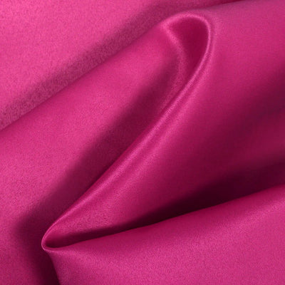 Hot Pink Dull Matte Bridal Satin Fabric