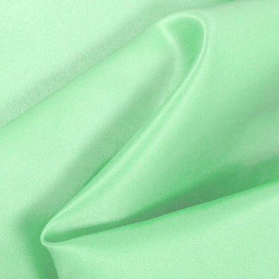 Mint Dull Matte Bridal Satin Fabric