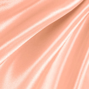 Peach Poly Satin Fabric