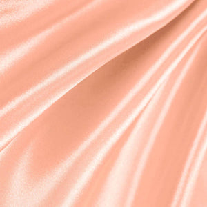 Peach Poly Satin Fabric / 50 Yards Roll
