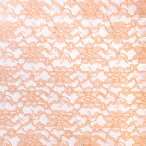 Peach Raschel Lace Fabric