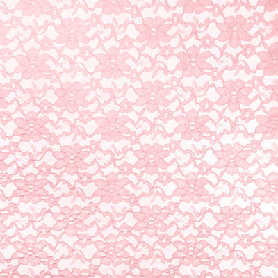 Pink Raschel Lace Fabric
