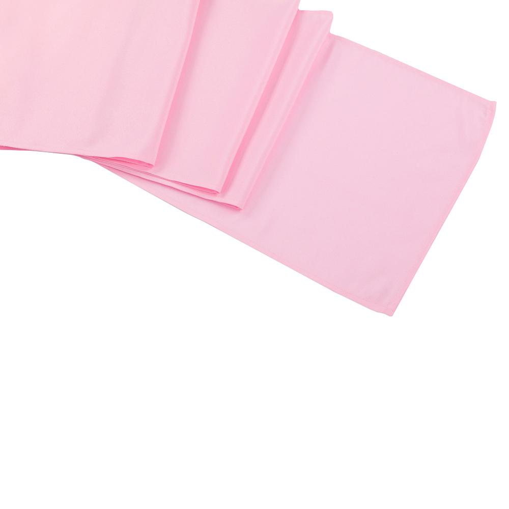 Pink Polyester Table Runner