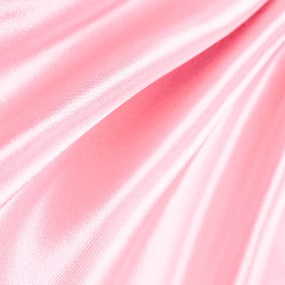 Light Pink Poly Satin Fabric