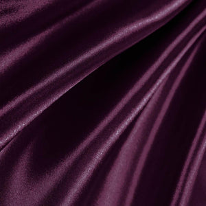 Plum Poly Satin Fabric / 50 Yards Roll