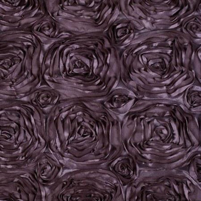 Rosette Satin Plum Fabric