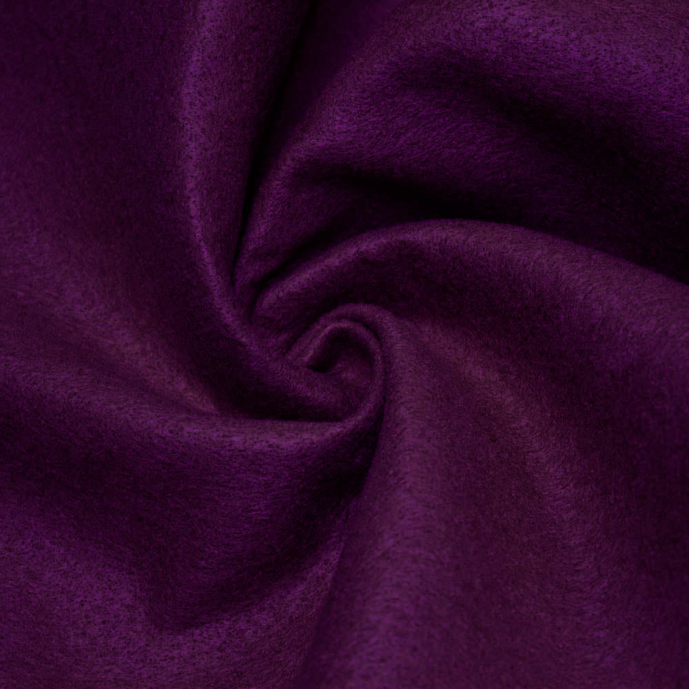 Plum solid Acrylic Felt Fabric