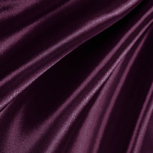 Plum Poly Satin Fabric