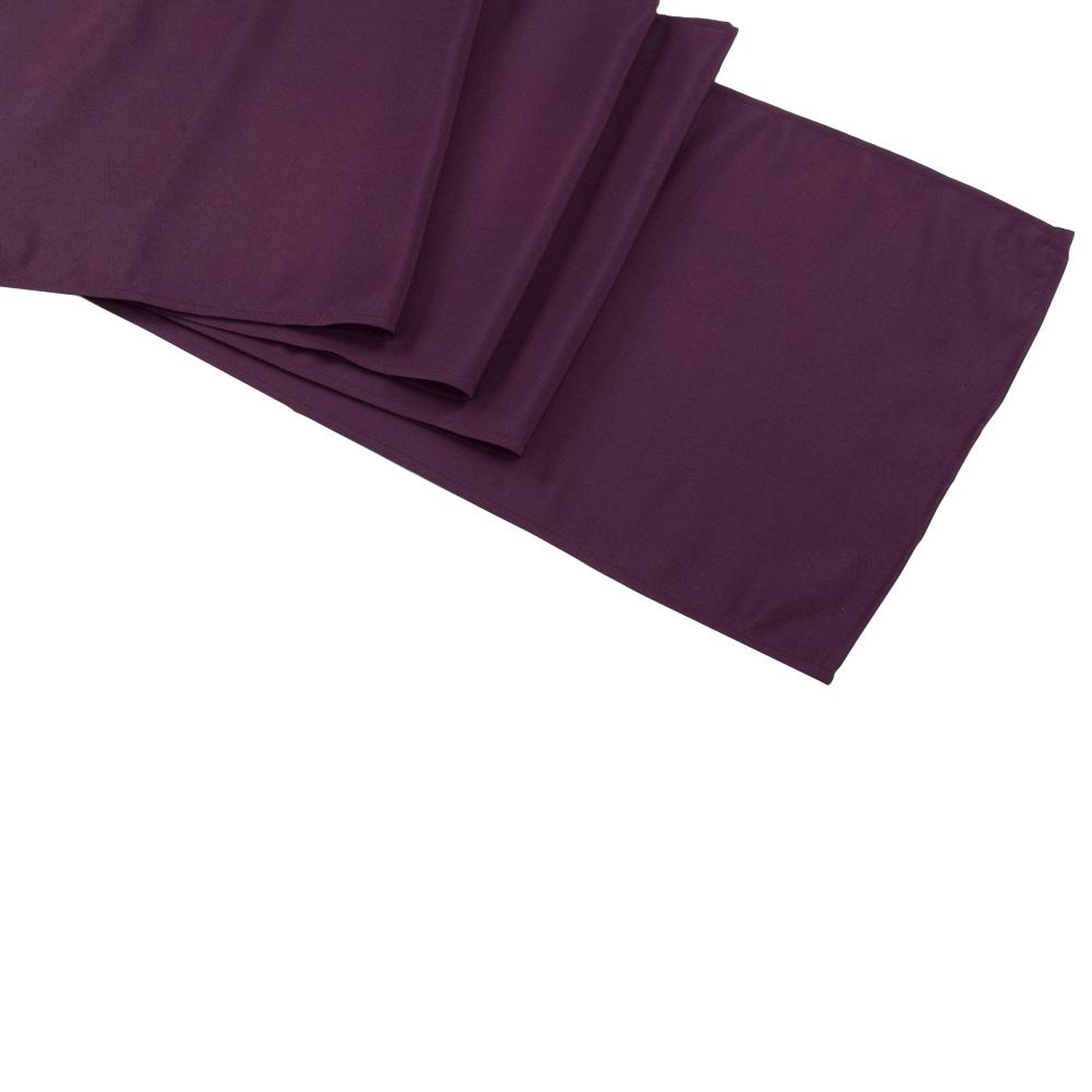 Plum Polyester Table Runner