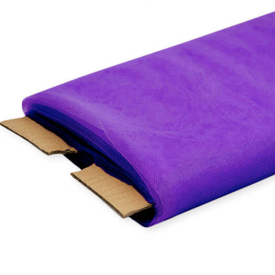 Purple Nylon Tulle Fabric - 40 Yards By Roll